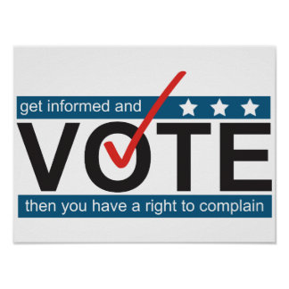 Vote to Complain Funny Election Humor Poster Art