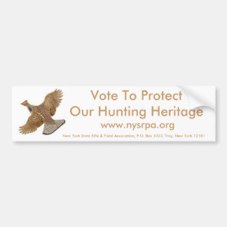 Vote To Protect Our Hunting Heritage Bumper Sticker