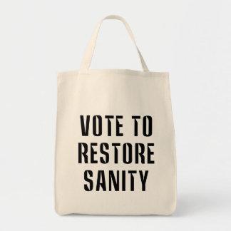 Vote To Restore Sanity Tote Bag