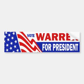Vote Warren For President Bumper Sticker