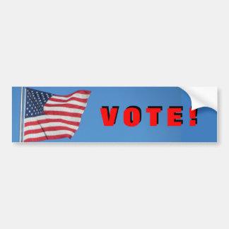 Vote!  with USA Flag red Bumper Sticker