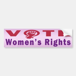 Vote Women's Rights 1 Bumper Sticker