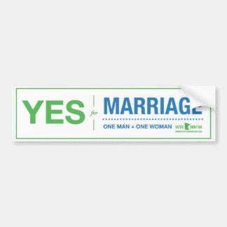 Vote Yes Bumper Sticker
