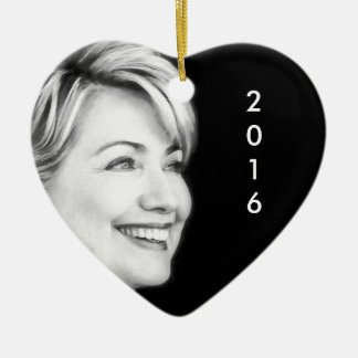 Vote Yes For Hillary in 2016 Ceramic Ornament