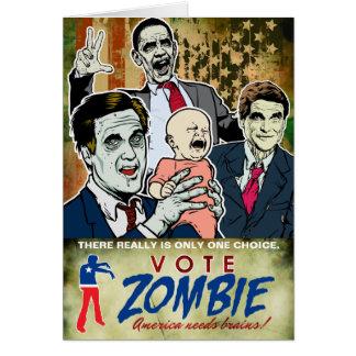 Vote Zombie 2012 Card