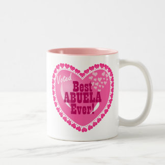 Voted BEST Abuela ever! Two-Tone Coffee Mug