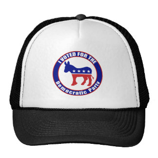 Voted Democrat Original Trucker Hats