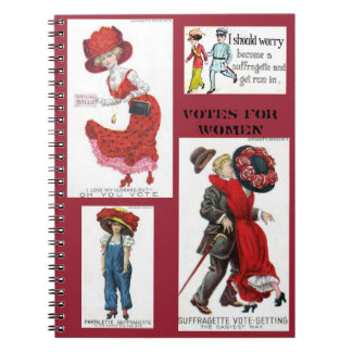 Votes for Women Suffragettes Art Vintage Notebooks