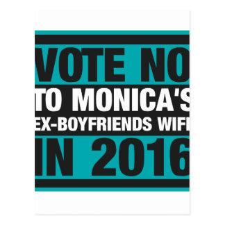 Votez non à l'épouse des Ex-Amis de Monica en 2016 Carte Postale