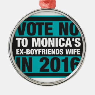 Votez non à l'épouse des Ex-Amis de Monica en 2016 Ornement Rond Argenté