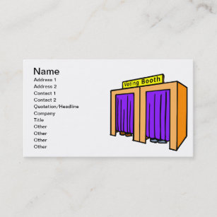 Booth business cards profile cards zazzle ca voting booth business card reheart Image collections