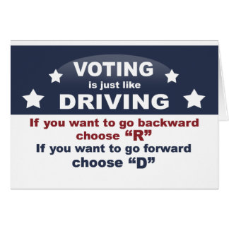 Voting is Just Like Driving Card