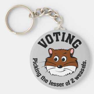 Voting - Picking the lesser of two evils Basic Round Button Keychain