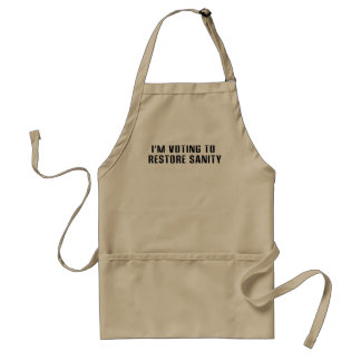 Voting To  Restore Sanity Bumper Sticker Sized Standard Apron
