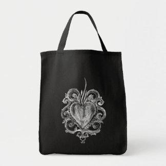 Votive Heart Handbag Grocery Tote Bag