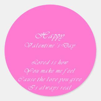 votre amour est le vrai jour de valentine sticker rond