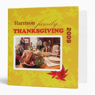 Votre classeur de thanksgiving de famille