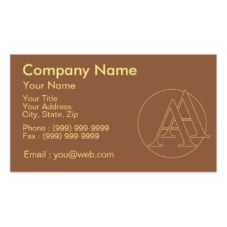 """Votre monogramme """"A&A"""" sur l'arrière - plan """"a Carte De Visite Standard"""
