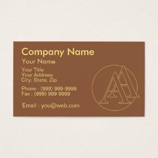 """Votre monogramme """"A&A"""" sur l'arrière - plan """"a Cartes De Visite"""