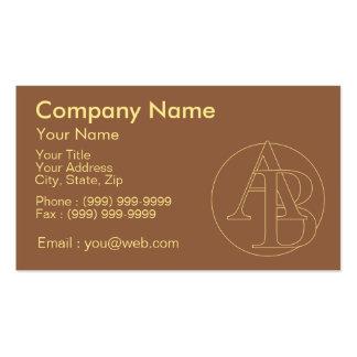 """Votre monogramme """"A&B"""" sur l'arrière - plan """"a Carte De Visite Standard"""