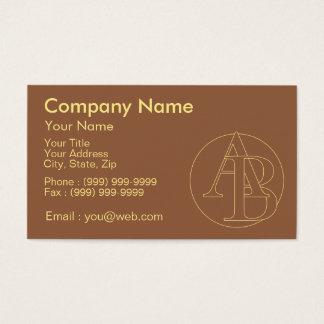"""Votre monogramme """"A&B"""" sur l'arrière - plan """"a Cartes De Visite"""