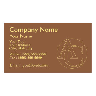 """Votre monogramme """"A&C"""" sur l'arrière - plan """"a Carte De Visite Standard"""