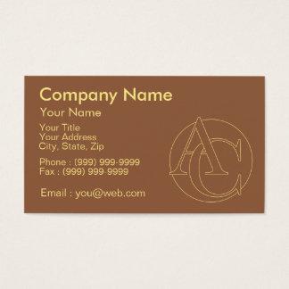 """Votre monogramme """"A&C"""" sur l'arrière - plan """"a Cartes De Visite"""