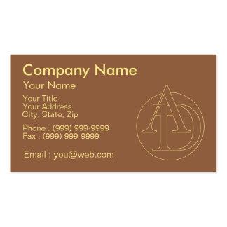 """Votre monogramme """"A&D"""" sur l'arrière - plan """"a Carte De Visite Standard"""