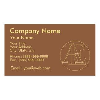 """Votre monogramme """"A&E"""" sur l'arrière - plan """"a Carte De Visite Standard"""