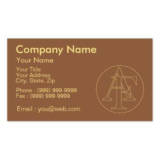 """Votre monogramme """"A&F"""" sur l'arrière - plan """"a Carte De Visite Standard"""