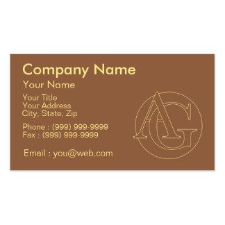 """Votre monogramme """"A&G"""" sur l'arrière - plan """"a Carte De Visite Standard"""