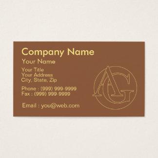 """Votre monogramme """"A&G"""" sur l'arrière - plan """"a Cartes De Visite"""