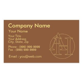 """Votre monogramme """"A&H"""" sur l'arrière - plan """"a Carte De Visite Standard"""