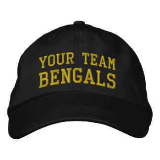 Votre nom Bengals d'équipe a brodé le casquette de Casquette Brodée