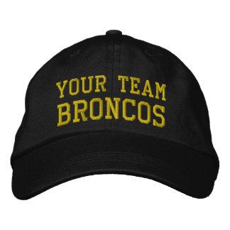 Votre nom Broncos d'équipe a brodé le casquette de Casquette Brodée