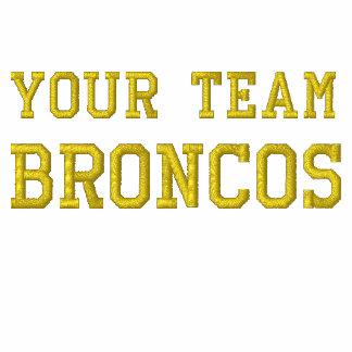 Votre nom Broncos d'équipe a brodé le polo