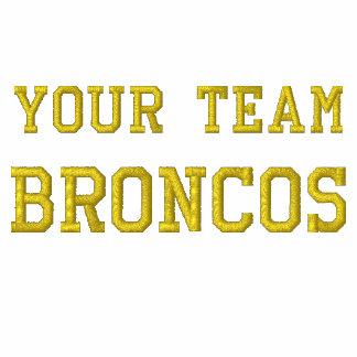 Votre nom Broncos d'équipe a brodé le sweat - shir Sweatshirts