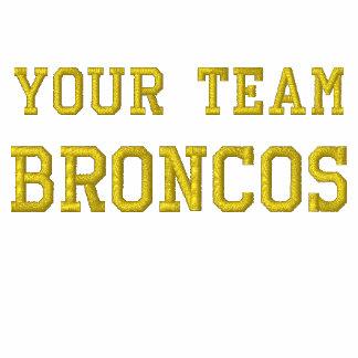 Votre nom Broncos d'équipe a brodé le tee - shirt