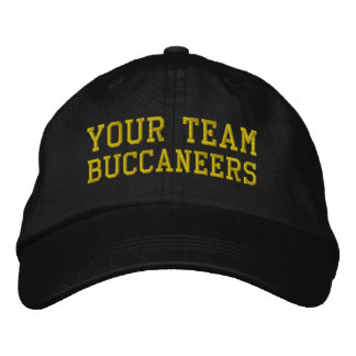 Votre nom Buccaneers d'équipe a brodé le casquette Casquette Brodée