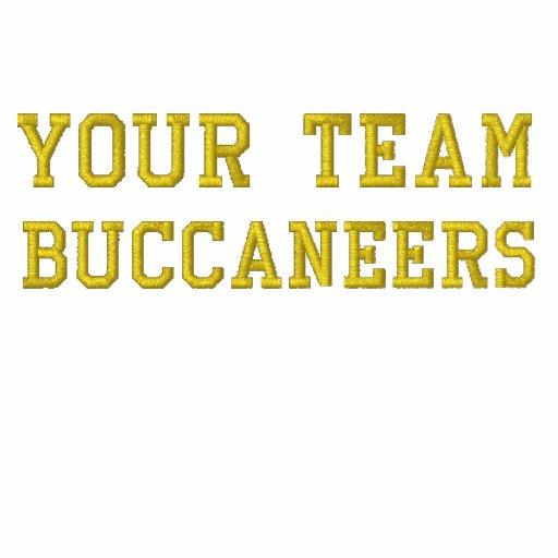 Votre nom Buccaneers d'équipe a brodé le polo
