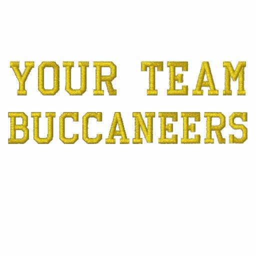 Votre nom Buccaneers d'équipe a brodé le tee - shi