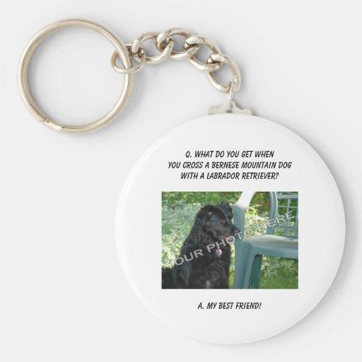 Votre photo ! Mélange de chien de montagne de Bern Porte-clés
