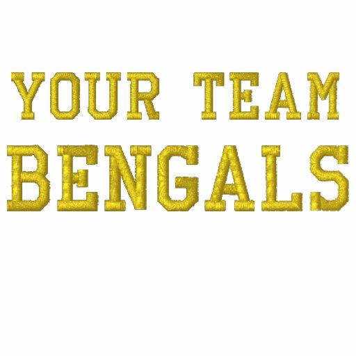 Votre polo brodé par Bengals de nom d'équipe