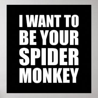 Votre singe d'araignée poster