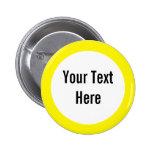 Votre texte ici jaunissent le bouton de coutume de badge