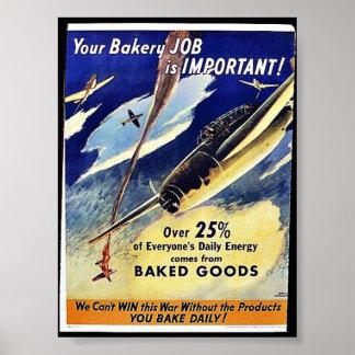Votre travail de boulangerie est important, pâtiss affiches
