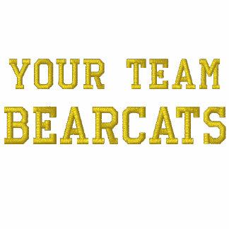 Votre veste de voie brodée par Bearcats de nom d'é