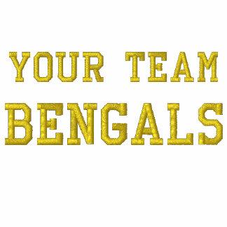 Votre veste de voie brodée par Bengals de nom d'éq