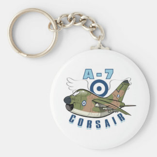 vought a-7 corsair basic round button keychain