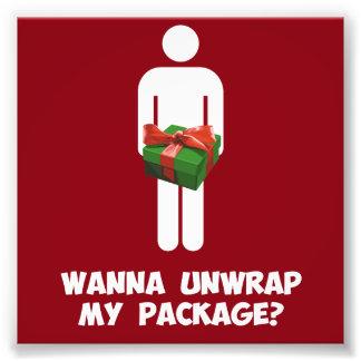 Voulez dérouler mon paquet ? photo sur toile